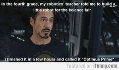 In The Fourth Grade, My Robotics' Teacher Told...