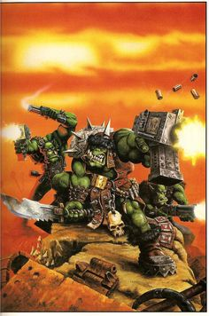 Warhammer Artwork, wallpaper sizes, all the classics! Warhammer 40k Art, Warhammer Models, Sculpture Art, Sculptures, Battlefleet Gothic, Orks 40k, Dnd Monsters, Game Workshop, Wallpaper Size