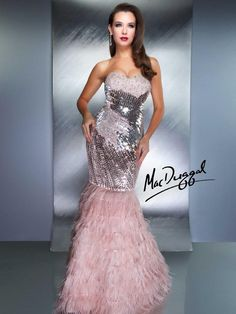 Strapless Mermaid Evening Gown - 1180D | Mac Duggal