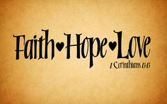 Vinyl Wall Decal Faith Hope Love by SisterStudioPro31 on Etsy, Wont this for my bedroom.