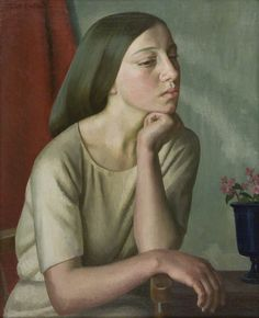 Lilian by Dod Procter Date painted: 1923 Oil on canvas, 52 x 42 cm Collection: Jerwood Collection