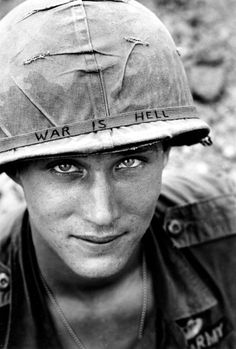 "by Horst Faas  An unidentified US soldier in 1965.  His eyes tell a story,and ""Yes"",it is ... :("