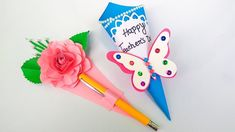 Greeting Cards For Teachers, Teachers Day Greetings, Teachers Day Gifts, Happy Teachers Day, Teacher Cards, Teacher Gifts, Easy Paper Crafts, Easy Diy Crafts, Handmade Greetings