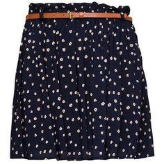 Mango Floral print flared skirt
