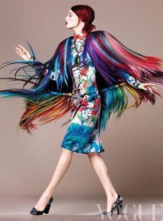 musefraisedesbois:  Modern Rainbow Brite.Vogue Mexico  //