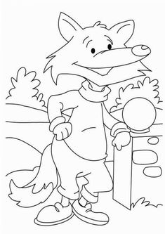 Free Easy To Print Fox Coloring Pages Fox Coloring Page Animal Coloring Pages Coloring Pictures