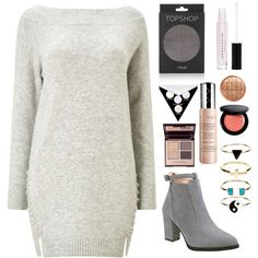 No grey, no fame by lucyheartyui on Polyvore featuring moda, Miss Selfridge, Topshop, Accessorize, By Terry, Kat Von D and Rimmel