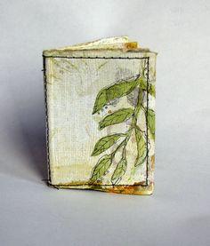 Drawing Challenge - VEIN by Kim Henkel - a miniature book about leaves! Handmade Journals, Handmade Books, Handmade Notebook, Altered Books, Altered Art, Tea Bag Art, Fabric Journals, Art Journals, Collage