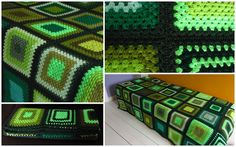 Green Bedspread Green Crochet Blanket 50x80. Available to buy from https://www.etsy.com/uk/shop/Phoenixsmiles. There's lots more colorful creations in store, why not take a look?