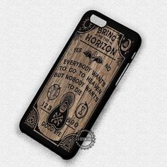 Wooden Board Texture Bring Me The Horizon - iPhone 7 6 5 SE Cases & Covers