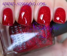 Wonderful Christmas nails!! Scrangie is a great blogger, love her!