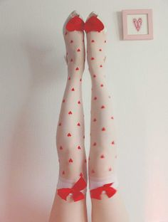 Red Hearts Thigh Highs - we sell these at www.hotlegsusa.com :)