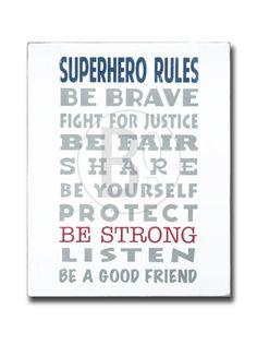 Superhero Rules - Poster Print