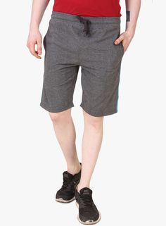 Buy Aventura Outfitters Solid Grey Shorts for Men Online India, Best Prices…
