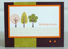 """Stampin up """"Trendy Trees"""""""