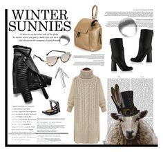 """New Winter Sunnies"" by krischigo ❤ liked on Polyvore featuring FabFunky, Victoria Beckham, Fendi, Elizabeth Arden and wintersunnies"