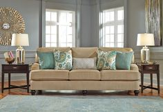 Ashley Furniture Lochian Sofa. At Kensington Furniture for $599.99. Perfect living room decor on a budget