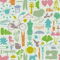 Beautiful new Sadie Fox fabric @spoonflower. Will be my new kitchen window curtains!!