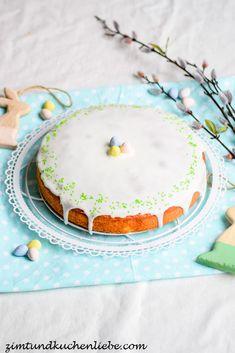 (Oster-) Zitronenkuchen mit Mandeln