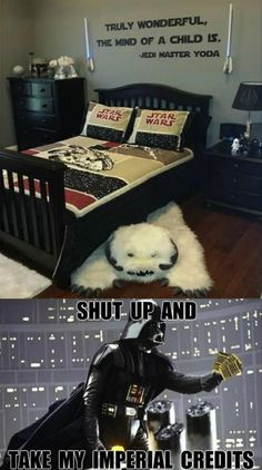 kid's room for the star wars fan