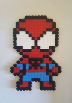 Hama Beads Patterns, Beading Patterns, Spaider Man, Hamma Beads Ideas, Marvel Cross Stitch, Spiderman Spider, Kids Shows, Perler Beads, Tigger