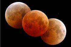 Eclipse total da Lua poderá ser visto no Brasil nesta madrugada.