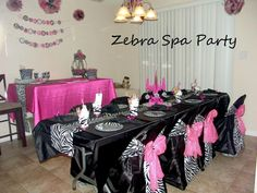 Zebra Spa Party