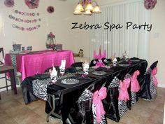 Zebra Spa Party