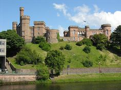 Inverness Castle Seen Across the River Ness, Scotland Highlands