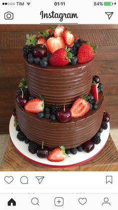 Bolo Square Birthday Cake, 2 Tier Birthday Cakes, Birthday Cake For Mom, Cupcakes, Cupcake Cakes, Birthday Cake For Women Simple, 60th Anniversary Cakes, Brown Wedding Cakes, 50th Cake