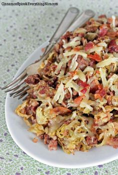 Easy Skillet Corned Beef Hash & Cabbage