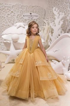 Items similar to Gold Lace Tulle Belle Dress - Birthday Wedding party Bridesmaid Holiday Gold Tulle Lace Belle Dress on Etsy