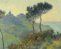 The Church at Varengeville, sunset (1882) - Claude Monet