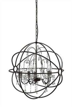 Orb Chandelier with Crystals