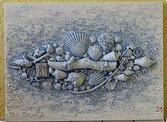 Картина панно рисунок Ассамбляж Терра Ультрамарин и Изумруд  фото 1