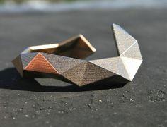 Crab Cuff - modern geometric stainless steel cuff bracelet