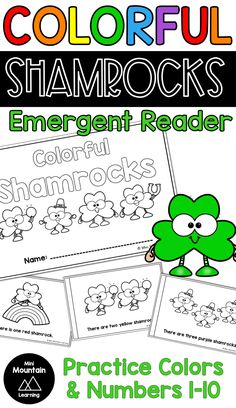 Practice reading color words and number words with your students using this St. Students can color the shamrocks to match the color word. They can also write in the number to match the number of shamrocks. Color Activities, Classroom Activities, Learning Activities, Activities For Kids, Number Words, Letters And Numbers, Emergent Readers, Students, March