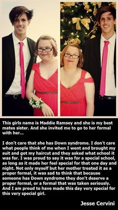 I have so much respect for this man. Not a lot of boys (I'm saying boys because that's what they are in high school- not men like they should be but boys) would do this for someone