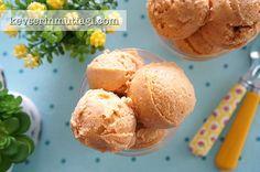 Kayısılı Dondurma Tarifi - Malzemeler : 700 g kayısı, 100 ml krema, 1 tepeleme tatlı kaşığı bal. Almond Butter, Hamburger, Ice Cream, Bread, Cookies, Breakfast, Cake, Desserts, Food