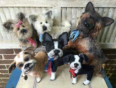 Custom dog Keepsakes. English bulldog, Yorkie, Westie, German Shepherd, Boston Terrier, Boston Terrier puppy. Created by Brady Bears Studio... www.BradyBears.com