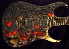Molten Lava custom guitar