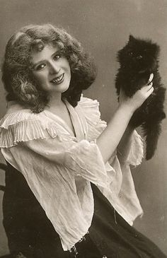 Vintage Cat Ladies!                                                                                                                                                                                 More