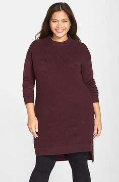 6822013c63b Halogen® Side Zip Tunic (Plus Size) available at  Nordstrom Plus Size  Sweater