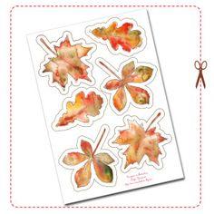 free printable tree leaf bunting gratuit guirlande feuille