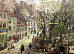 Hans Baluschek - Alt-Berlin, Waisenstraße (1927)