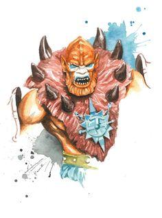 Masters of the Universe Classics watercolor art print: Beastman