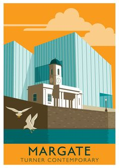 MARGATE. Retro Seaside Poster Margate Turner by WhiteOneSugar