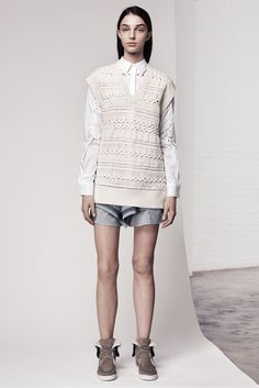Thakoon Addition Pre-Fall 2015 - Collection - Gallery - Style.com HORIZONTAL DROP NEEDLE CABLES