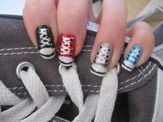 Converse nails. So cool.
