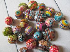 Colorful polymer clay beads | by Hila Bushari